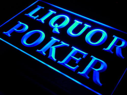 Liquor Poker Beer Bar Pub Neon Light Sign