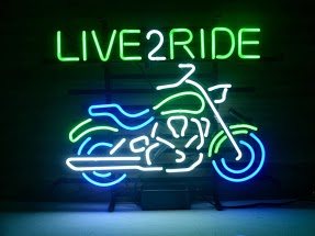 Live To Ride Harley Motorbike Classic Neon Light Sign 17 x 14
