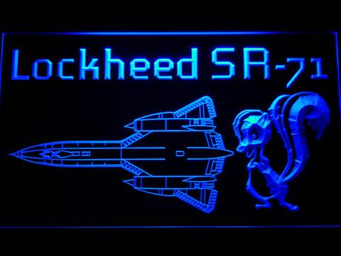 Lockheed SR-71 Aircraft LED Neon Sign