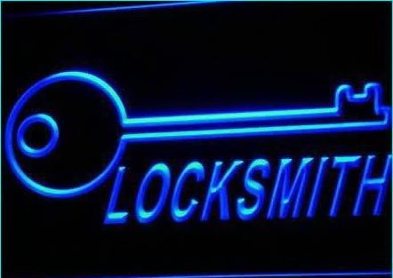 Locksmith Keys Display Lock Open Neon Light Sign