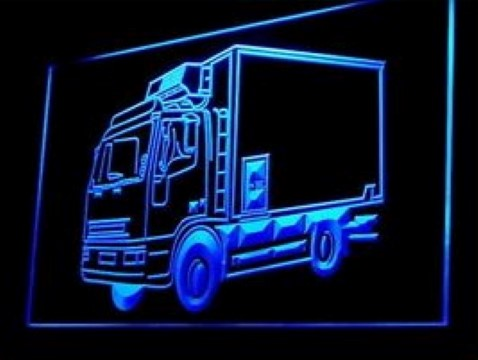 Lorry Rent Delivery Service Courier LED Neon Sign