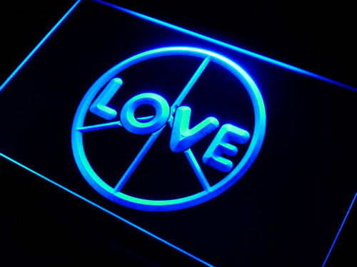 Love Peace Display Neon Light Sign