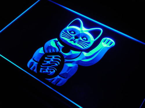Lucky Cat Good Luck Charm neon Light Sign