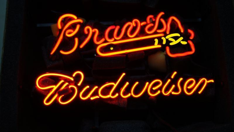 MLB Atlanta Braves Baseball Classic Neon Light Sign 16 x 13