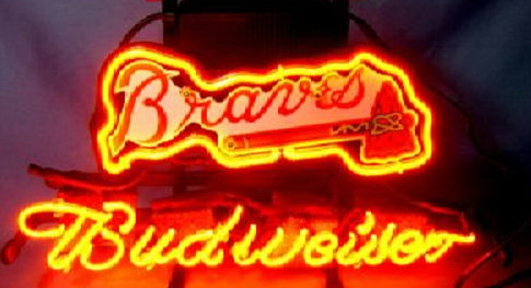 MLB Atlanta Braves Budweiser Neon Sign