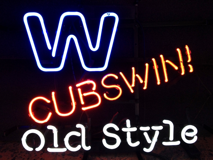 MLB Chicago Cubs Old Style Logo Neon Light Sign 16 x 15