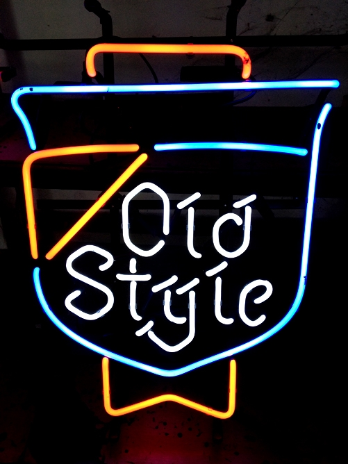 MLB Chicago Cubs Old Style Baseball Neon Light Sign 16 x 12