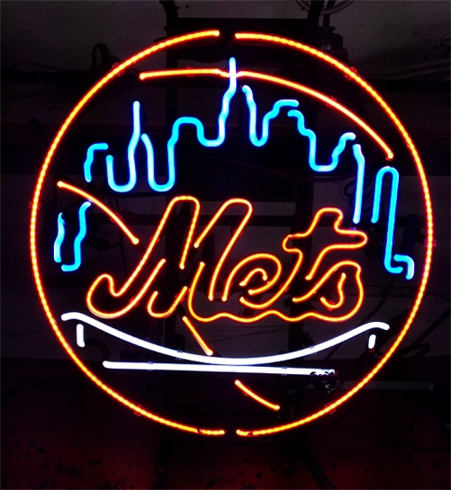 MLB NY Mets Baseball Classic Neon Light Sign 15 x 15