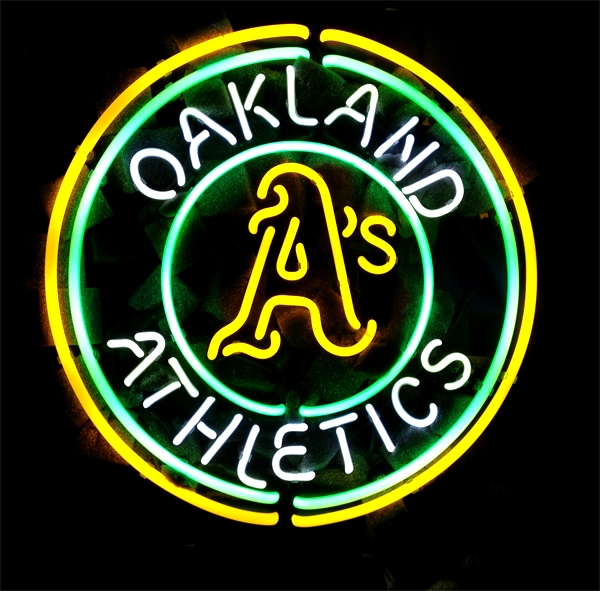 MLB Oakland Athletics Classic Neon Light Sign 15 x 15