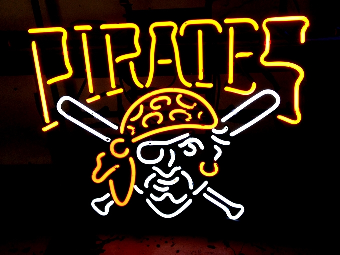 MLB Pittsburgh Pirates Baseball Neon Sign 16 x 14