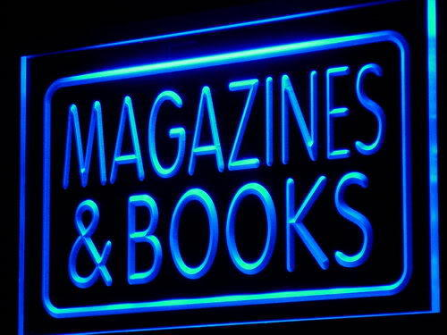 Magazines & Books Shop Display Neon Light Sign