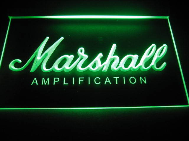 Marshall Amplification Beer Bar Light Sign
