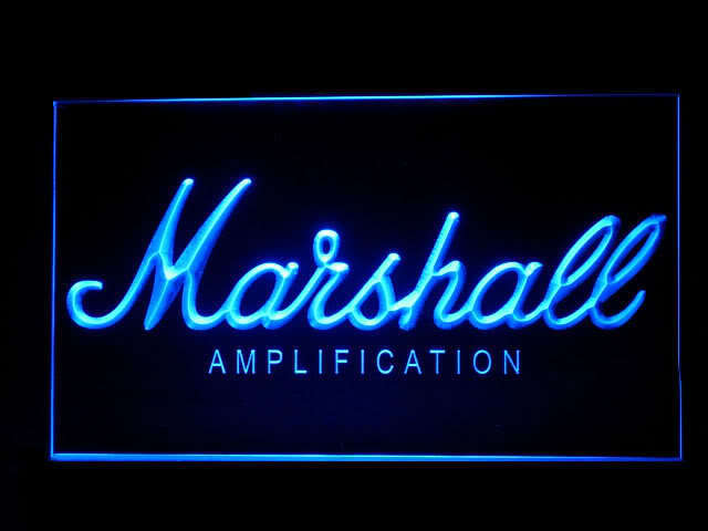 Marshall Bass Amplifier Display Led Light Sign