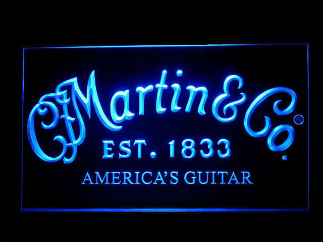 Martin Guitar Display Led Light Sign