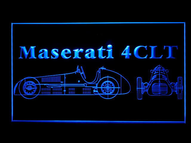 Maserati 4 CLT LED Light Sign