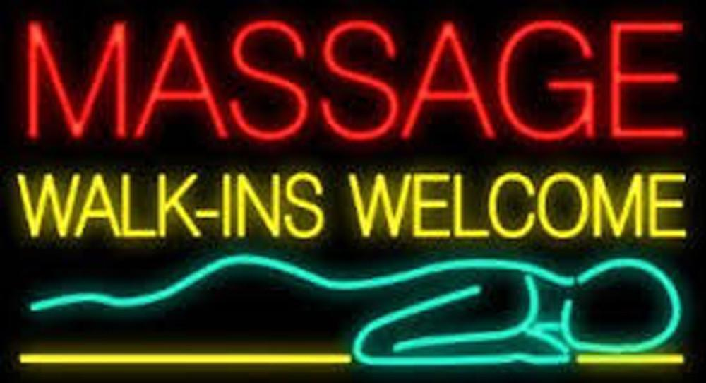 Massage Walk Ins Neon Sign