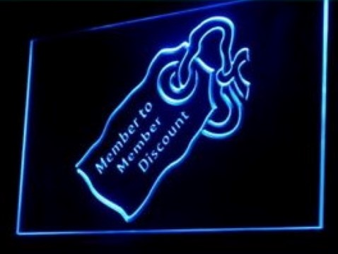 Member Discounts LED Neon Sign
