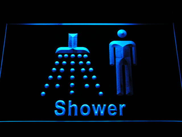 Men Male Boys Shower Room Change Neon Light Sign