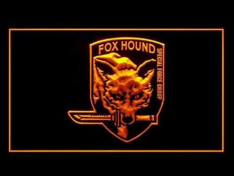 Metal Gear Solid Fox Wolf LED Neon Sign