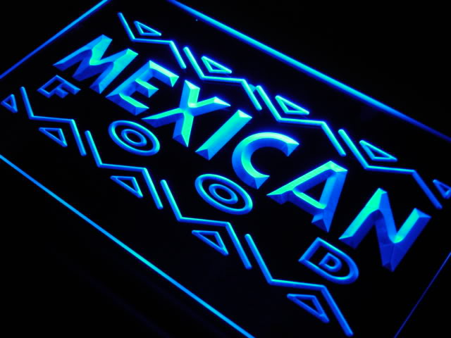 Mexican Food Cafe Shop Bar Beer Neon Light Sign
