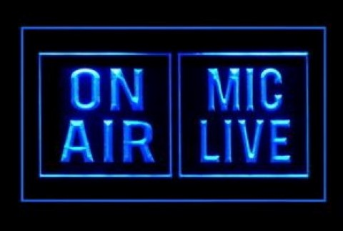 Mic Live On Air LED Neon Sign