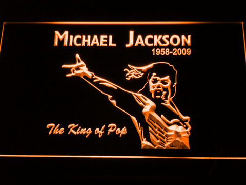 Michael Jackson 1958-2009 LED Neon Sign