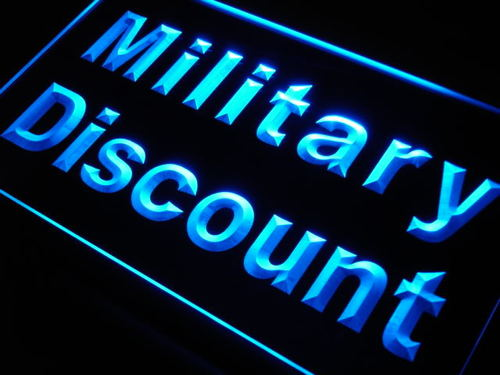 Military Discount Neon Light Sign
