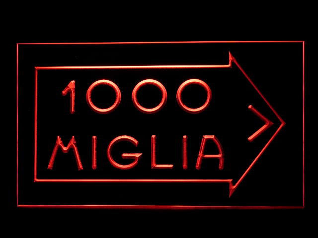 Mille Miglia LED Light Sign