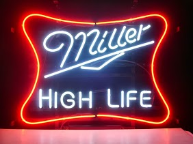 Miller Beer High Life Classic Neon Light Sign 17 x 14