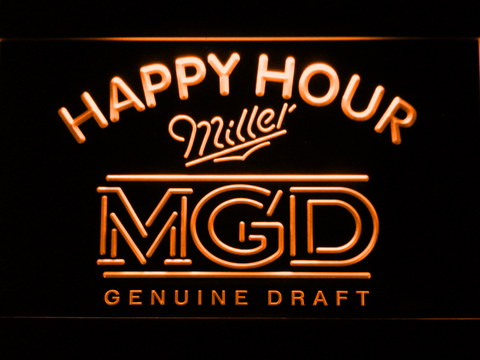 Miller MGD Happy Hour LED Neon Sign