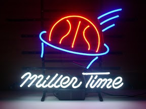 Miller Time Basketball Classic Neon Light Sign 17 x 14