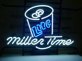 Miller Time Lite Beer Bar Classic Neon Light Sign 17 x 14