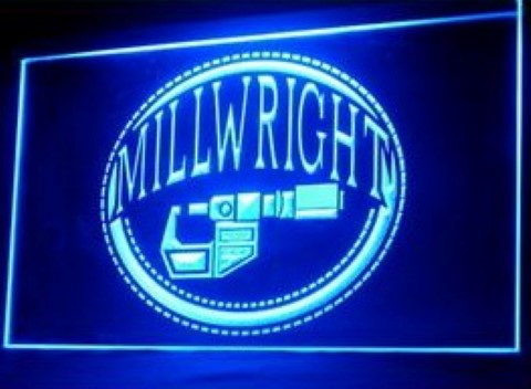 Millwright Tools Repair Authorized Dealer LED Neon Sign