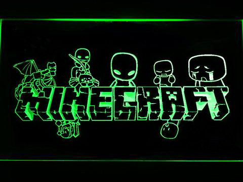 Minecraft 3 LED Neon Sign