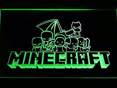 Minecraft 4 LED Neon Sign
