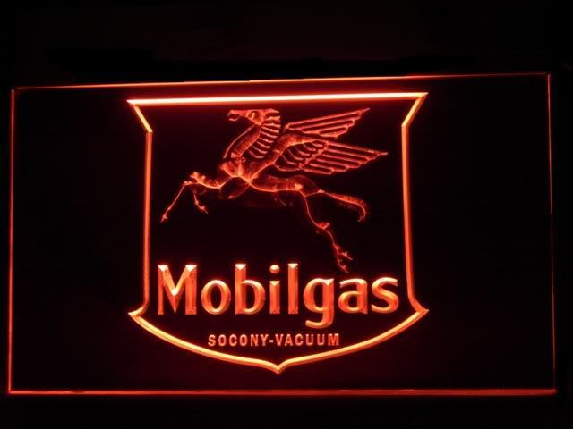 Mobil Gas LED Light Sign