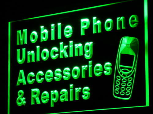 Mobile Phone Accessories Repairs Neon Light Sign