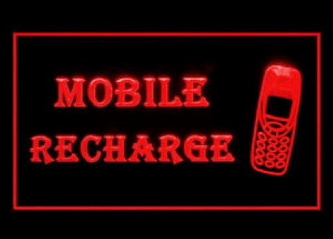 Mobile Phone Recharge Service Smartphone LED Neon Sign