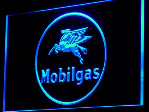 Mobilgas Circle LED Neon Sign