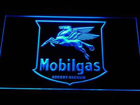 Mobilgas Old Shield Logo LED Neon Sign