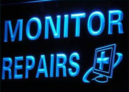 Monitor Repairs Computer Parts LED Light Sign