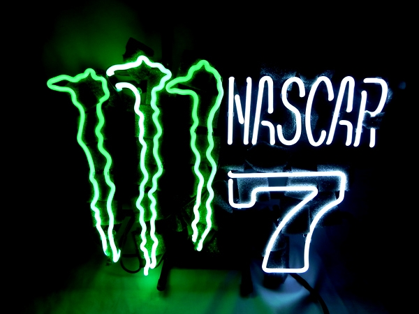 Monster Nascar 7 Beer Classic Neon Light Sign 16 x 13