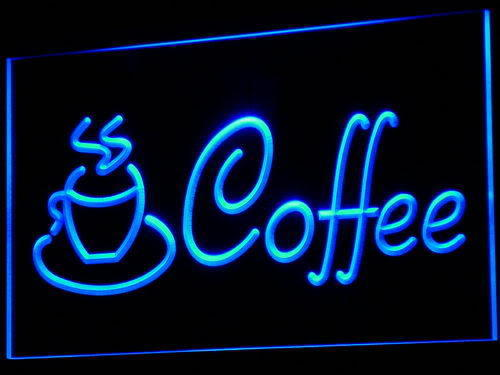 Morning Coffee LED Light Sign