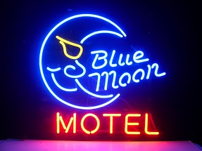 Motel Blue Moon Classic Neon Light Sign 17 x 14