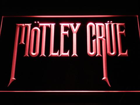Motley Crue Band Rock Bar LED Neon Sign