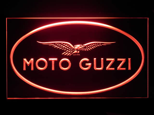 Moto Guzzi Motorcycle LED Sign