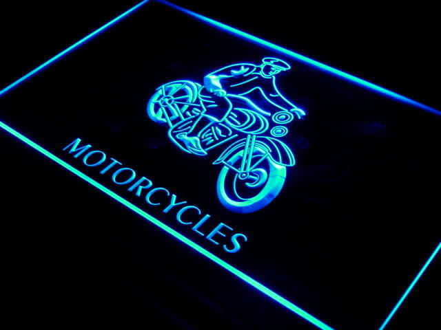 Motorcycles Vintage LED Sign