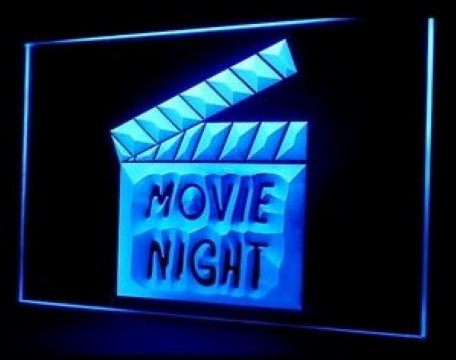 Movie Night LED Neon Sign