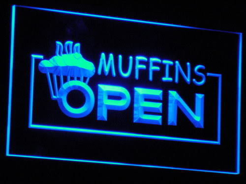Muffins OPEN Shop Bakery neon Light Sign