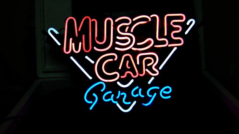Muscle Car Garage Classic Neon Light Sign 16 x 15